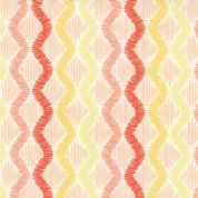 Moda Sunnyside - 2856 - Coral and Yellow Zig Zag Stripes on White - 100% Cotton Fabric